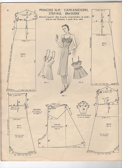 Free vintage lingeriepatterns