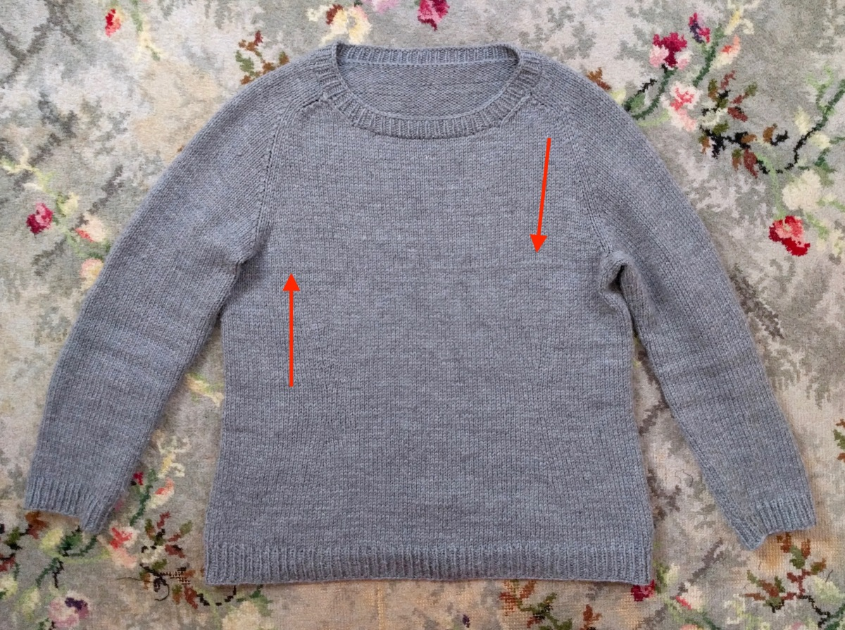 How to knit a garment in both directions