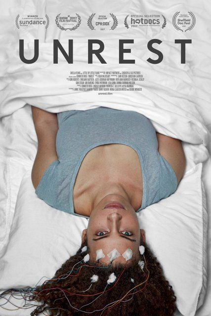 "Movie poster for film ""Unrest""."