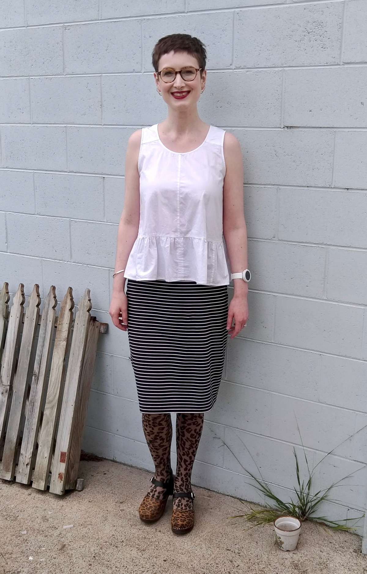 Maria Denmark knit ponte skirt (self-drafted)